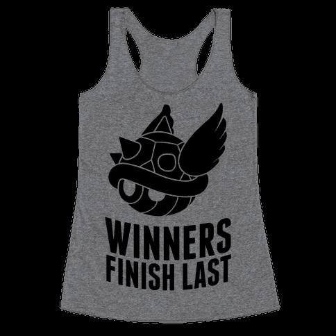 Winners Finish Last In Mario Kart Racerback Tank Top