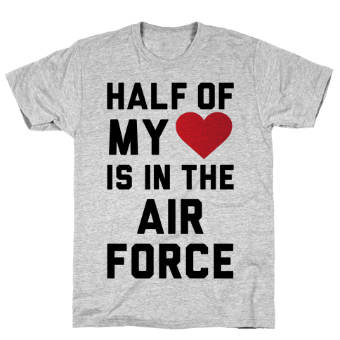 Half My Heart Is In The Air Force Mens T-Shirt