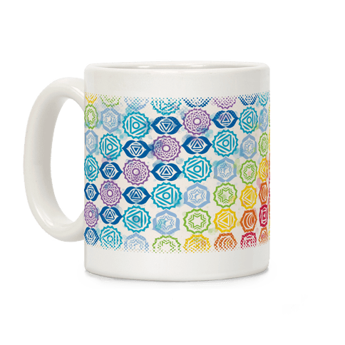 Watercolor Chakra Symbol Pattern Coffee Mug