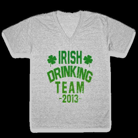 Irish Drinking Team 2013 V-Neck Tee Shirt