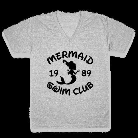 Mermaid Swim Club V-Neck Tee Shirt