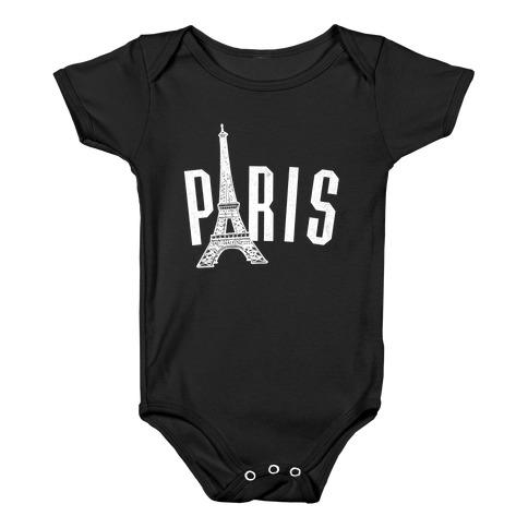 Paris (on dark) Baby Onesy