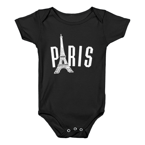 Paris (on dark) Baby Onesy