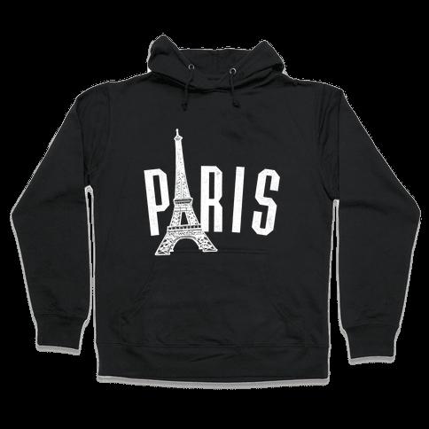 Paris (on dark) Hooded Sweatshirt