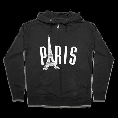 Paris (on dark) Zip Hoodie