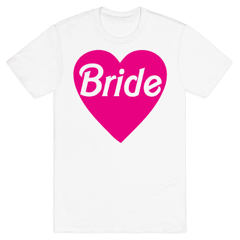 Bride Heart Mens T-Shirt