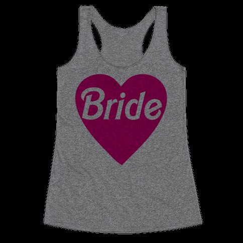 Bride Heart Racerback Tank Top