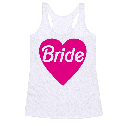 Bride Heart Racerback Tank Top