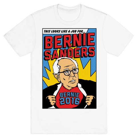 Super Hero Bernie Sanders 2016 Mens T-Shirt