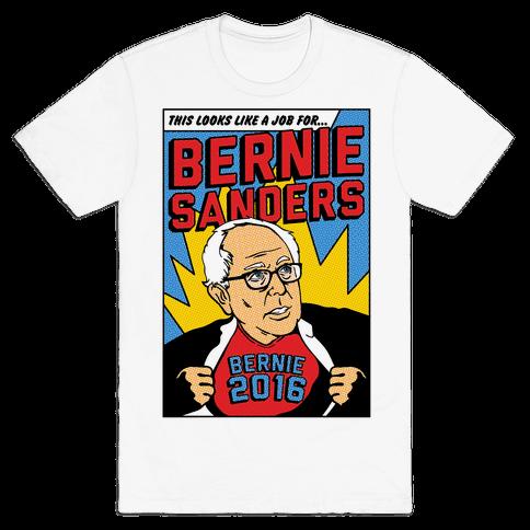 Super Hero Bernie Sanders 2016 Mens T-Shirt