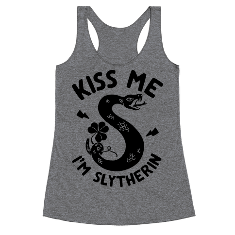 Kiss Me I'm Slytherin Racerback Tank Top