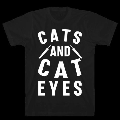 Cats and Cat Eyes Mens T-Shirt