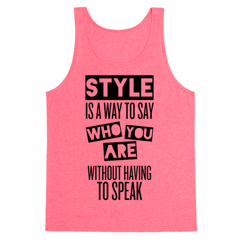 Style Tank Top