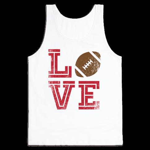 L (Football) V E Tank Top
