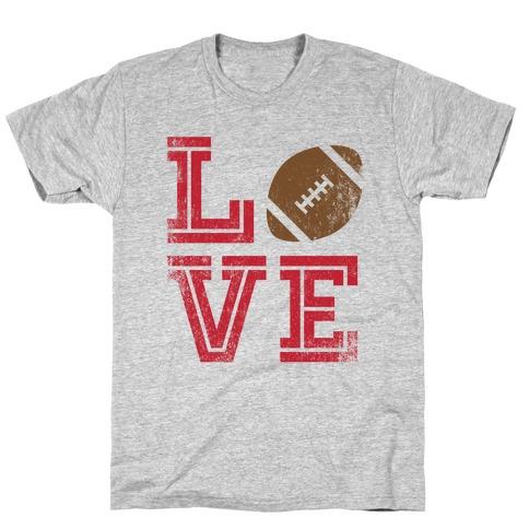L (Football) V E T-Shirt