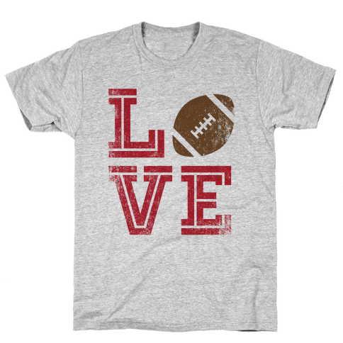 L (Football) V E Mens T-Shirt