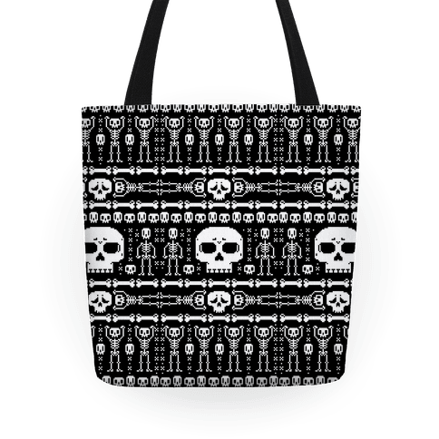 Ugly Skeleton Sweater Pattern Tote