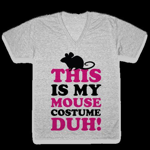 I'm a Mouse Duh V-Neck Tee Shirt
