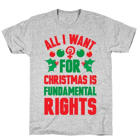 All I Want For Christmas Is Fundamental Rights T-Shirt