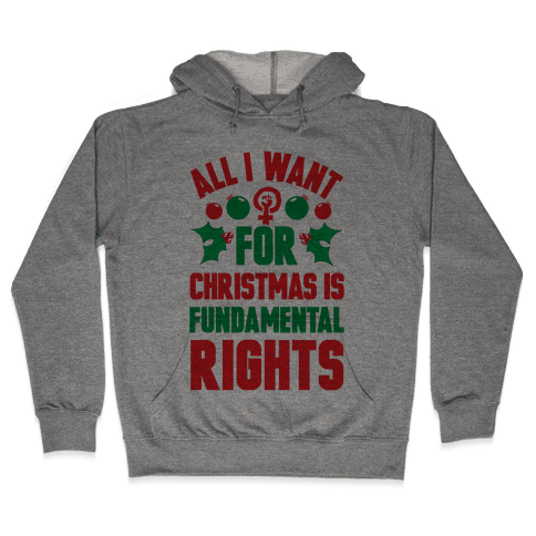 All I Want For Christmas Is Fundamental Rights Hooded Sweatshirt