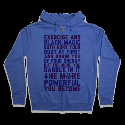Black Magic Zip Hoodie