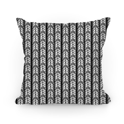 Black Chevron Pattern Pillow