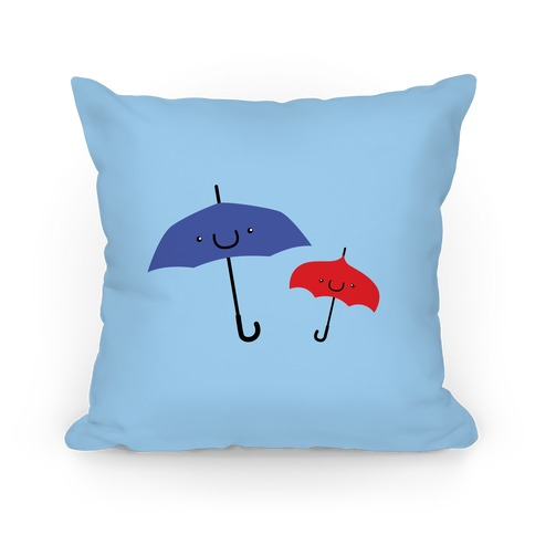 Cute Umbrella Couple Pillow