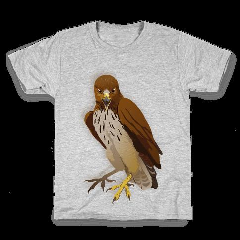 Poker Face Hawk Kids T-Shirt