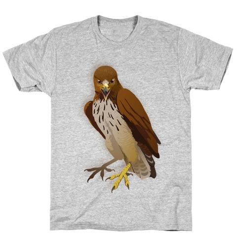 Poker Face Hawk Mens T-Shirt