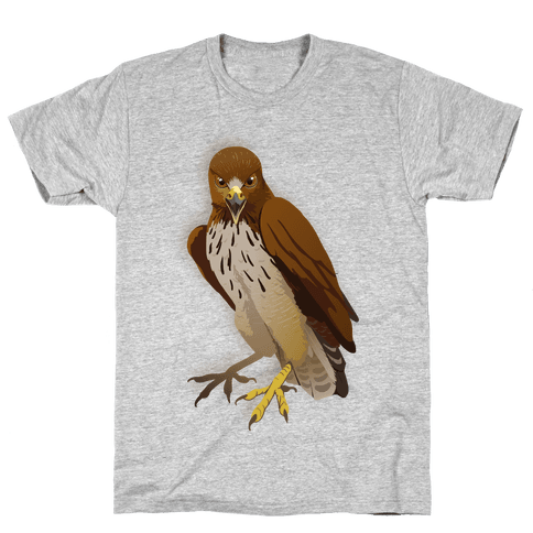 Poker Face Hawk Mens T-Shirt
