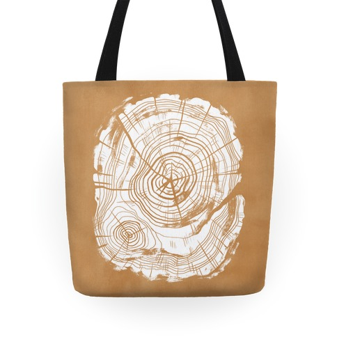Tree Growth Rings Tote