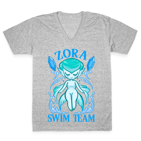Zora Swim Team Parody V-Neck Tee Shirt