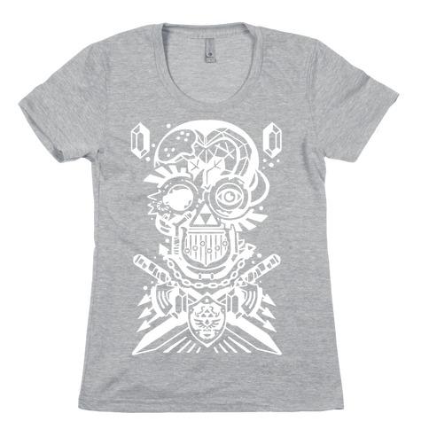 Legend Of Zelda skull Womens T-Shirt