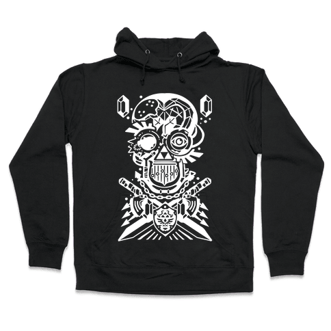 Legend Of Zelda skull Hooded Sweatshirt