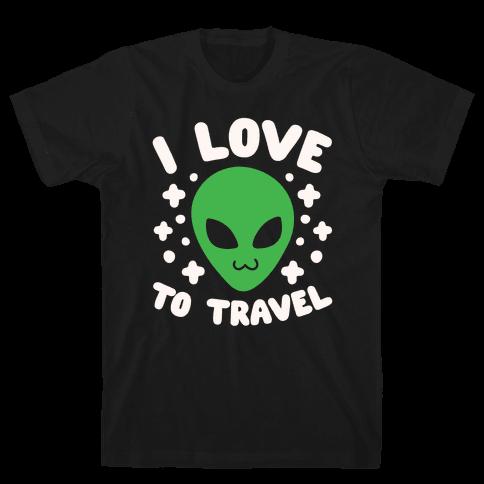 I Love To Travel Mens T-Shirt