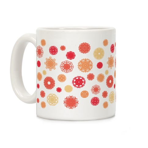 Fractal Flower Pattern Coffee Mug