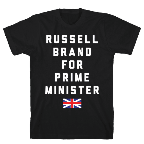 Russell Brand For Prime Minister Mens T-Shirt