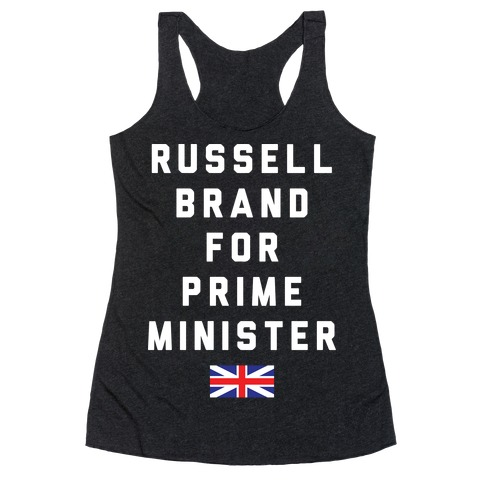 Russell Brand For Prime Minister Racerback Tank Top