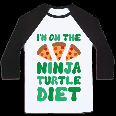 I'm On The Ninja Turtle Diet Baseball Tee