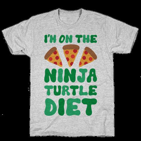 I'm On The Ninja Turtle Diet Mens/Unisex T-Shirt