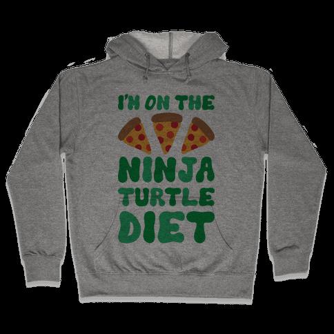 I'm On The Ninja Turtle Diet Hooded Sweatshirt
