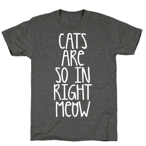 Cats Are So In Right Meow T-Shirt
