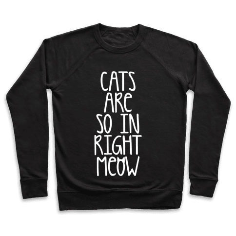 Cats Are So In Right Meow Pullover