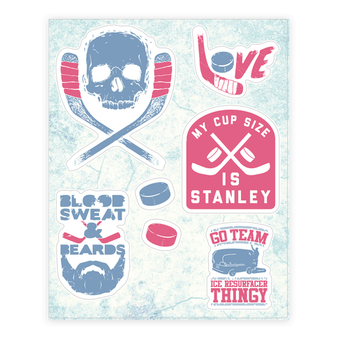 Hockey  Sticker/Decal Sheet