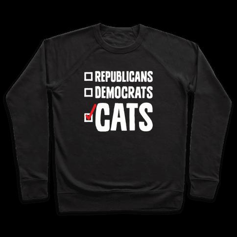 Republicans Democrats Cats Pullover