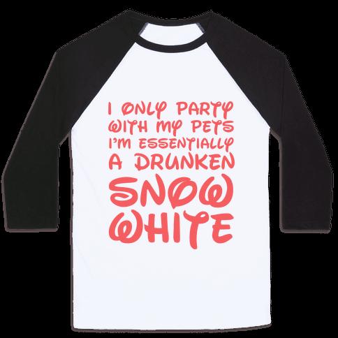 Drunken Snow White Baseball Tee