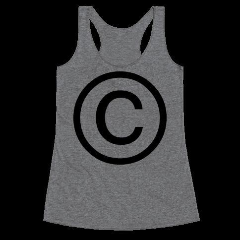 Copyright Racerback Tank Top
