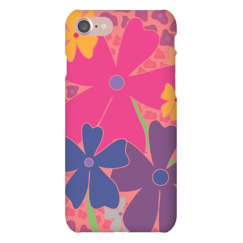 Pink Happy Flowers Pattern Phone Case