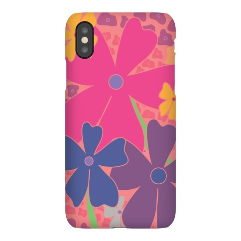 Pink Happy Flowers Pattern Phone Case