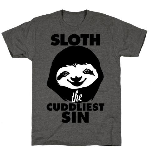 Sloth: The Cuddliest Sin T-Shirt